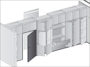La parete divisoria non fissa style relooking - Cucina a basso costo ...